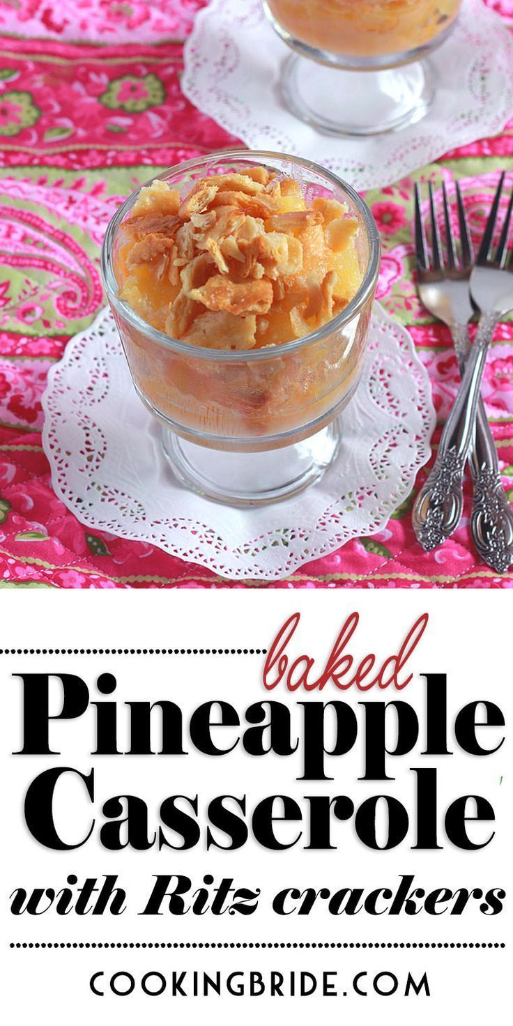 Baked Pineapple Casserole with Ritz Crackers – #Ba…