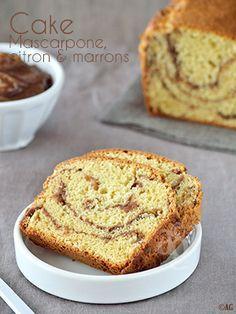 Cake au mascarpone, citron & crème de marrons   BON