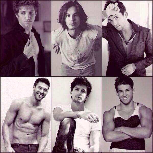 The men of #PLL---I'll take the one in the bottom left corner! Also, dang Mike, where'd you get those arms!?