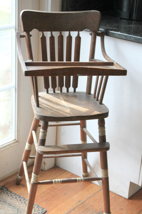 Antique Wood High Chair - 14 Best High Chairs Images On Pinterest Vintage High Chairs