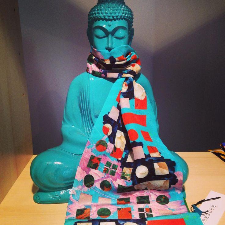 our KYOSK buddha wearing a Kaaskas scarf :)