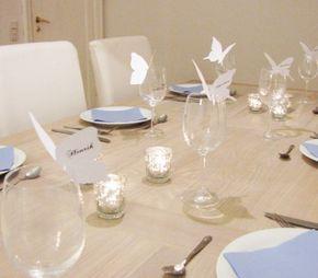 Tischkarten Schmetterlinge Pretty chic Blog   evet ich will - das türkische Hochzeitsportal