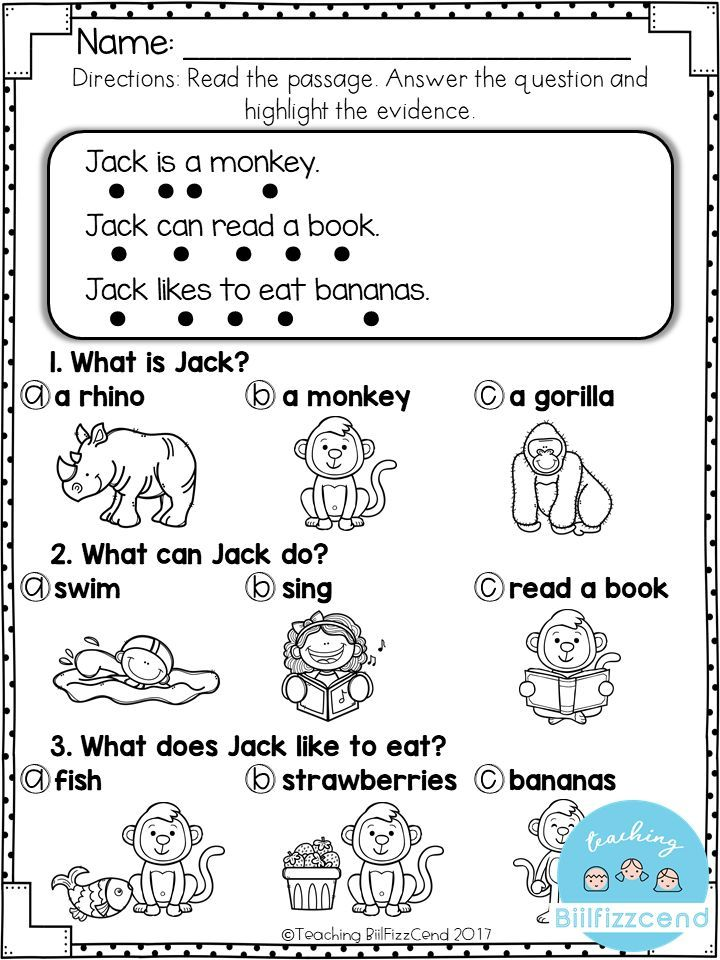 FREE Reading Comprehension For Early Readers And Special Education  Simple, Engaging Reading Comprehension Activities For English La…  Belajar, Matematika, Bahasa