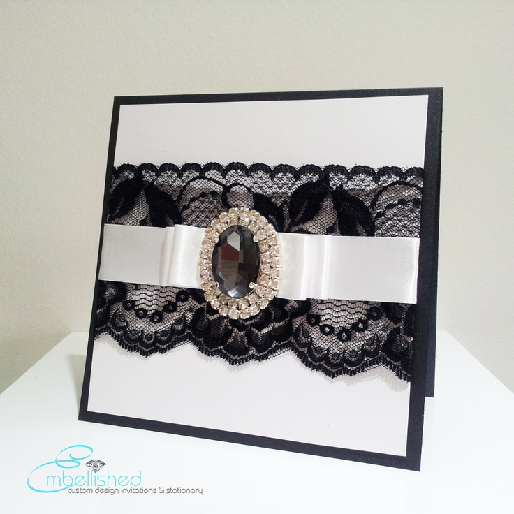 black lace invitation 219 best Stationary images