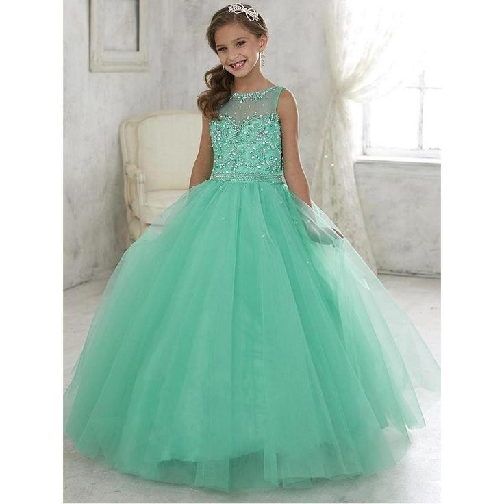 Find More Flower Girl Dresses Information about 2017 Cute Mint Green Little Girls Pageant Dresses Tulle Sheer Crew Neck Beaded Crystals Corset Back Flower Girls Birthday Dress,High Quality dresses 60s,China dress cute girls Suppliers, Cheap girl white dress from CDDRESSES Store on Aliexpress.com