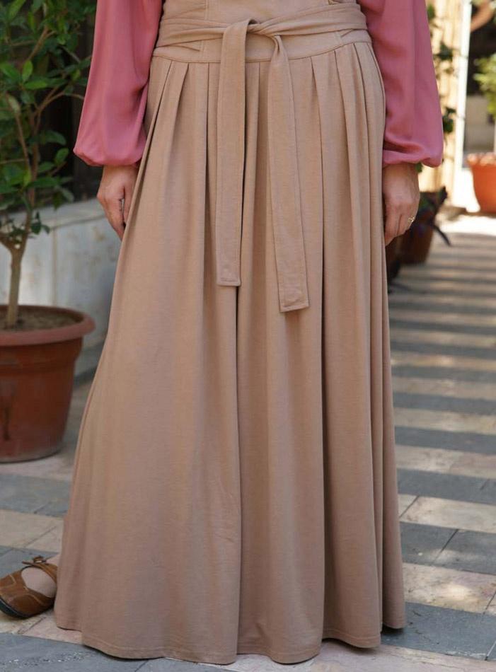 SHUKR USA   Jersey Pleated Skirt