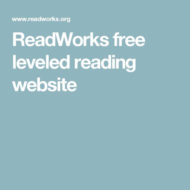 ReadWorks free leveled reading website