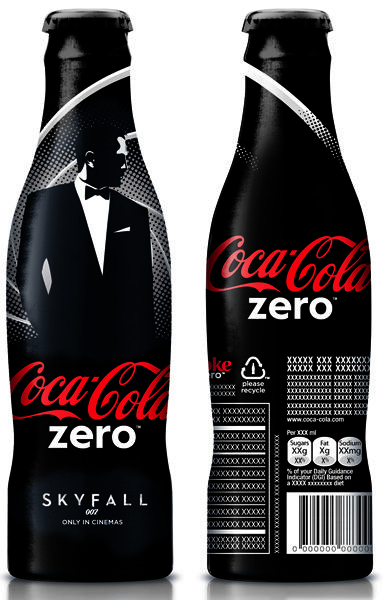 Bouteille aluminium Coca-Cola Zéro Zéro 7