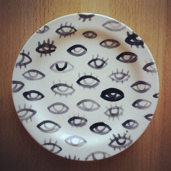 Tiny Eye Plate PreOrder by tuesdaybassen on Etsy, $20.00