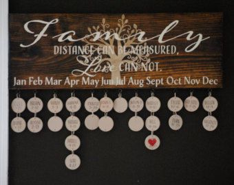 Laser Engraved Family Celebrations Board Family by eFourLaser