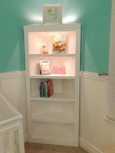 Corner Shelf for Nursery | Do It Yourself Home Projects from Ana White - 25+ Best White Corner Shelf Unit Ideas On Pinterest Corner Wall
