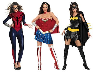 Dress up as your favorite Superheroine this Halloween with your pick of 6 drool-worthy outfits: Batgirl, Supergirl, Sexy Robin, Spidergirl, Wonder Woman, or American Dream!