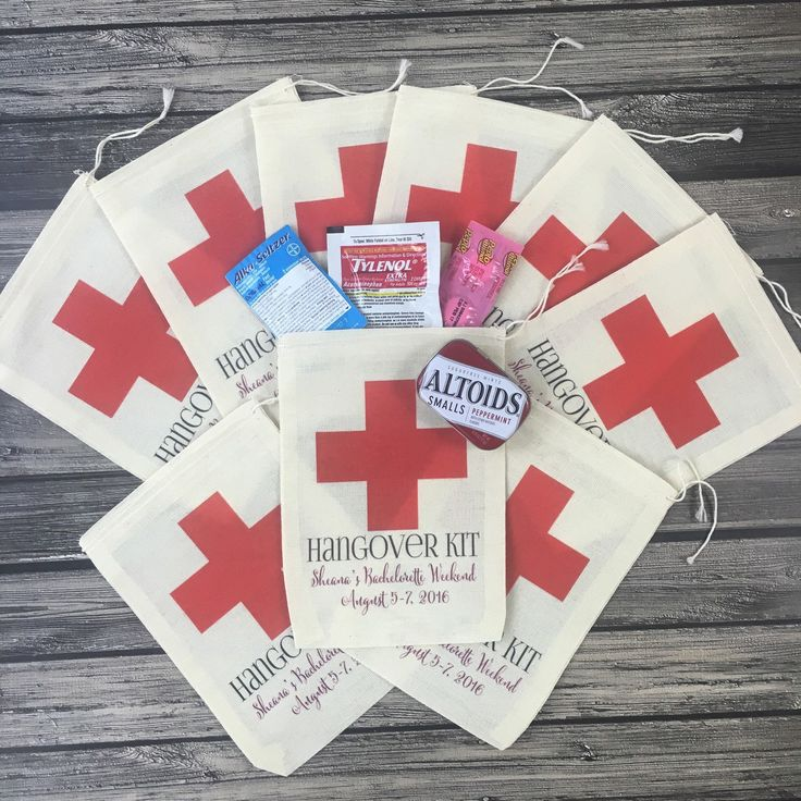 Hangover kits filled with hangover cures are def a must have for any wedding or bachelorette bash! Don't forget to checkout all of our adorable designs including our OH SHIT KITS...your guests will def appreciate the love!!