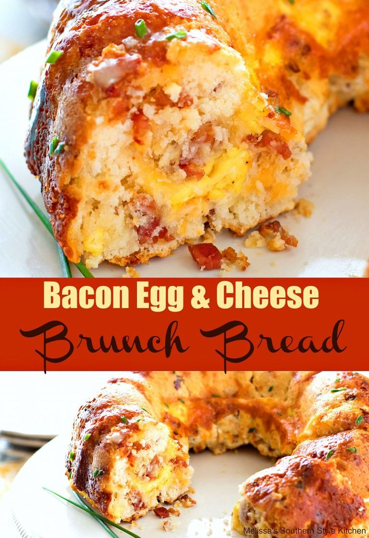 Bundt Pan Bacon Egg and Cheese Brunch Bread (Baking Bread Egg Whites)
