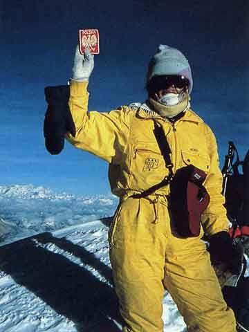 Wanda Rutkiewicz On Shishapangma Summit Sept 18 1987 - Wanda Rutkiewicz: A Caravan of Dreams book