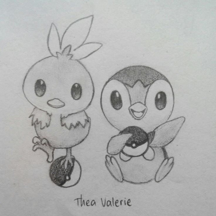 Torchic and Piplup