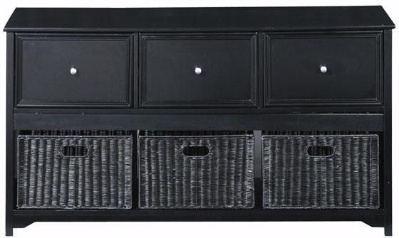 Oxford File Console With Wicker Baskets File Cabinets