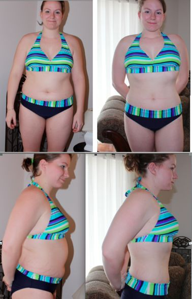 """Tanyas success!!! In her words :  """"Here are pics!!! So I purchased and started your jump start 4 weeks ago. These are the before and after your Jump Start! My official starting weight before you was 167 pounds. After 4 weeks, I am now down to 153! [:)] I am sending the 2 before and the 2 after pictures!!!!!! http://nataliejillfitness.com/products/7-day-jump-start/"""