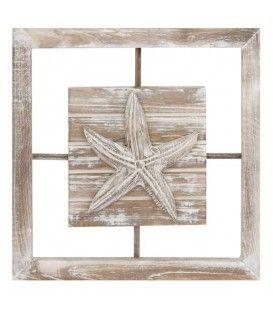Plaque murale en bois STARFISH