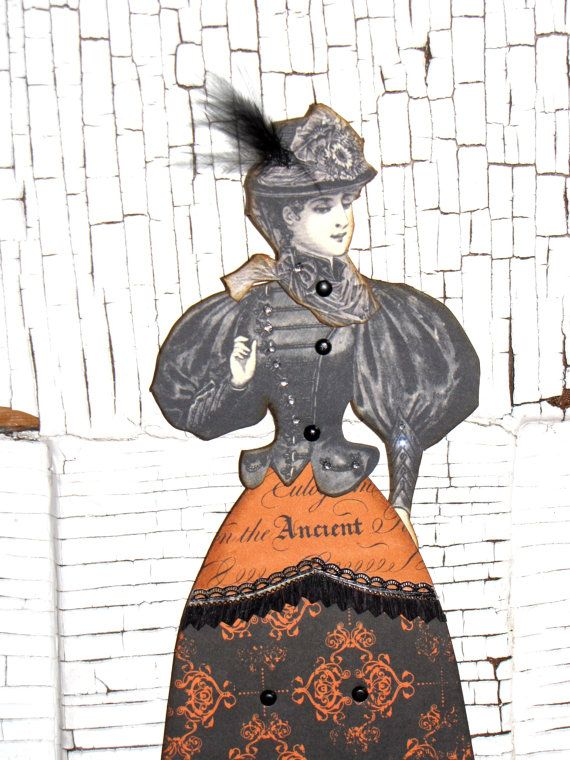 Steampunk witch doll | ... Witch Girl Articulated HALLOWEEN Paper Doll 10 1/2 inches Steampunk