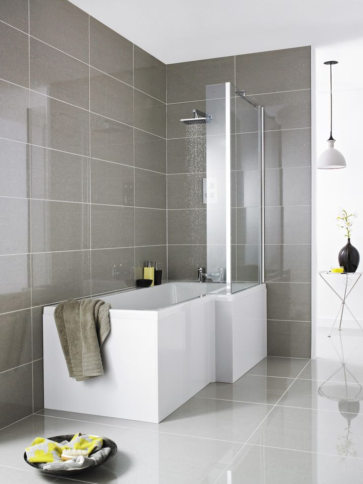 l shaped shower baths 1670 x 850 right - Small Shower Baths