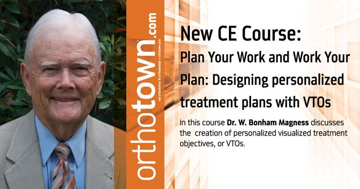 This course reviews the creation of personalized visualized treatment objectives, or VTOs. <BR><BR> Many orthodontic pioneers have said that VTOs should be the foundation of orthodontic treatment-planning, yet after many years few orthodontists take the time and effort to include this as a part of their practice regimen.