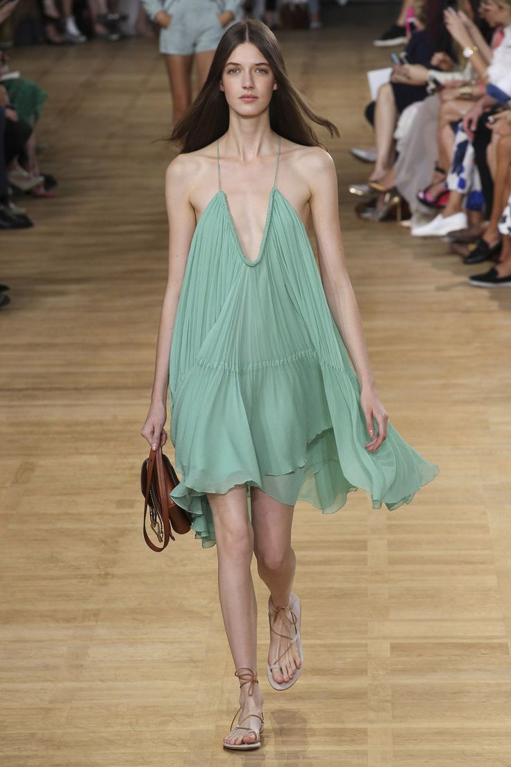 Chloé designed this trapeze style line dress that was a popular silhouette in the late 1950's. 4/6/15