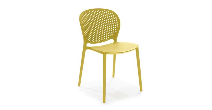 Dot Sun Yellow Dining Chair Outdoor chair $69 many fun colors