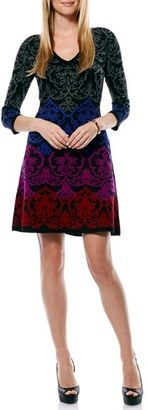 Laundry by Shelli Segal Brocade Sweater A-Line Dress - Shop for women's Sweater - Black Sweater