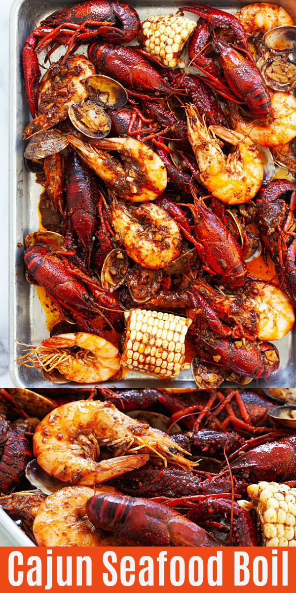 The BEST Cajun Seafood Boil recipe ever! Made with shrimp, crawfish