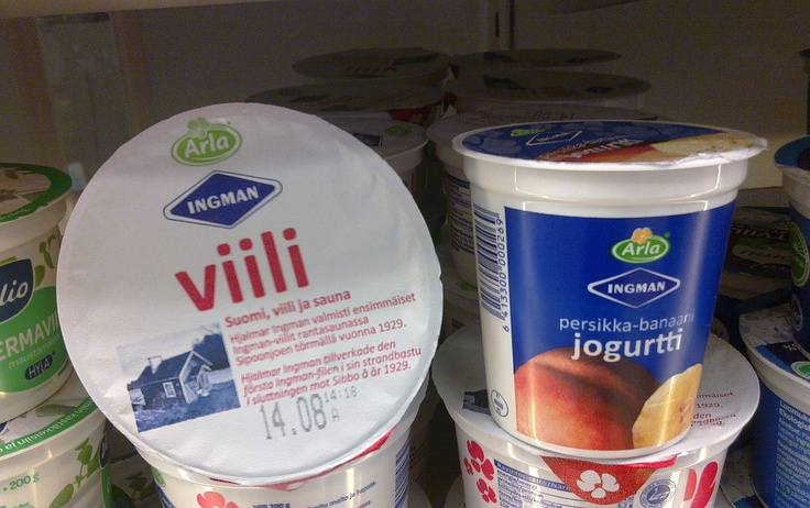Viili, an original Finnish product, and a yogurt (jogurtti in Finnish) imported one, some people seem to mixed them up, thinking they are the same thing but they are NOT and they taste different too.