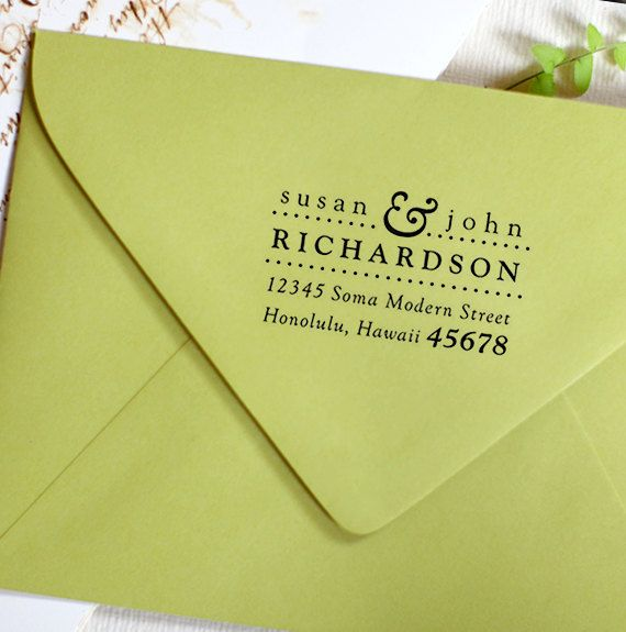 Address Stamp, Wood Handle, Personalized Gift, Custom Address Rubber Stamp - housewarming or wedding gift - a1009. $21.95, via Etsy.