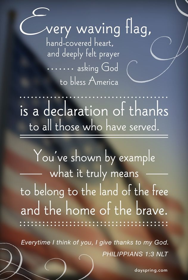 Veterans Day - A Declaration of Thanks - dayspring.com