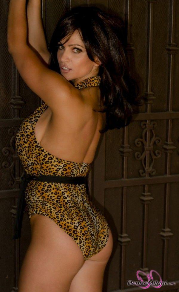 Denise Milani- Leopard Swimsuit