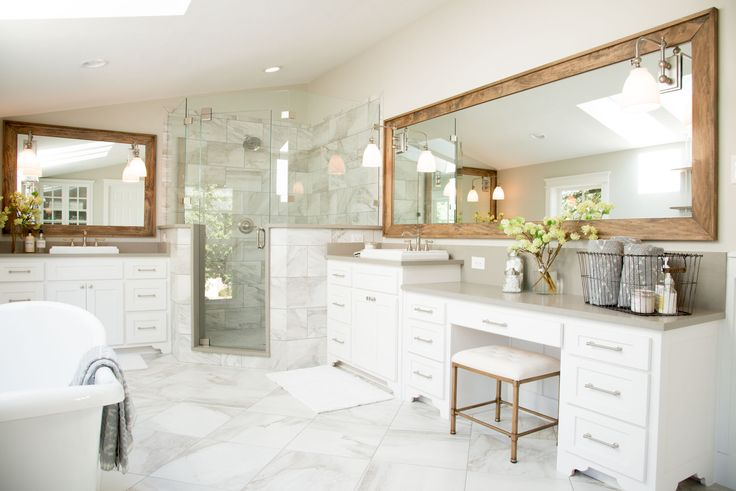 86 best images about bathroom on pinterest magnolia for Fixer upper bathroom photos
