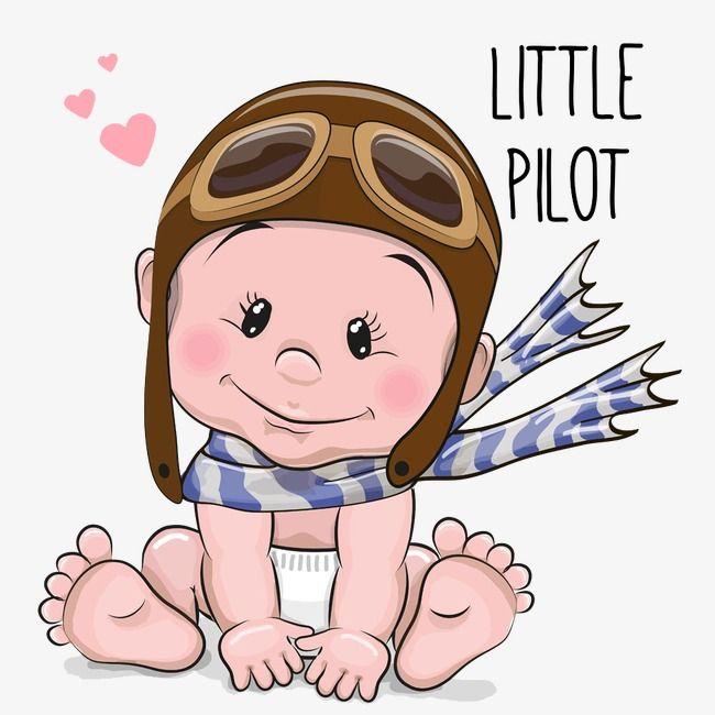 Cute Cartoon Baby Boy In A Bear Hat On A White Background Baby Cartoon Baby Art Safari Baby Png