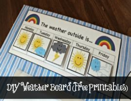 Weather Graph with Free Printables. Fun activity to start each week!