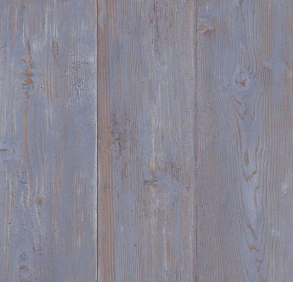 WALLPAPER BY THE YARD Blue Weathered Barnwood Boards Shabby Country Cottage Rust