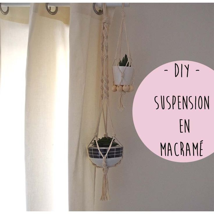 diy suspension en macram hello un peu de travail. Black Bedroom Furniture Sets. Home Design Ideas
