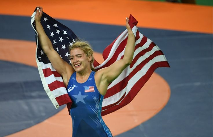 Helen Maroulis's perfect response to Ryan Lochte overshadowing her historic gold medal.  Helen Maroulis's perfect response to Ryan Lochte overshadowing her historic gold medal.