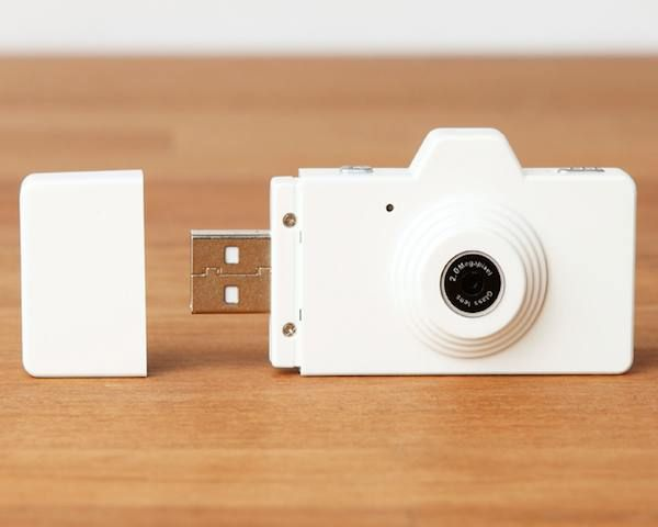 World's Smallest USB Digital Camera – $40. Turn on, just press the shutter and away you go, the easiest Camera ever invented. Go ahead and CLAP your way to fantastic images, with a Flash Drive that is also a Camerano need to hold the applause.