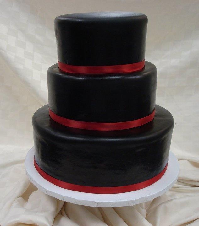 sweet black wedding cake