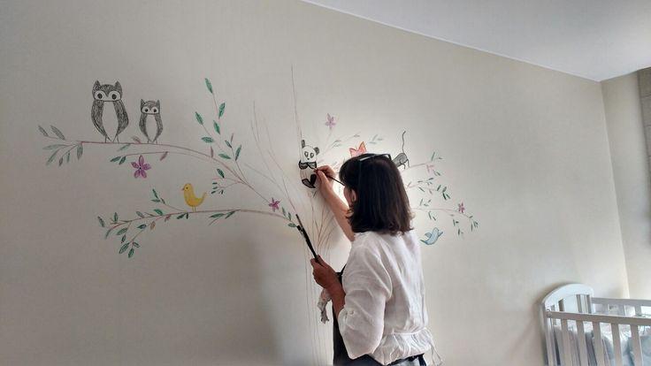 Pintura de parede quarto de bébé