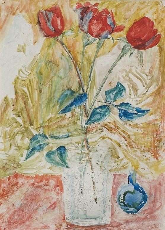 Flowers in the vase, Maja Berezowska