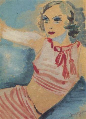 Kees van Dongen - Portrait de femme au bolero rouge