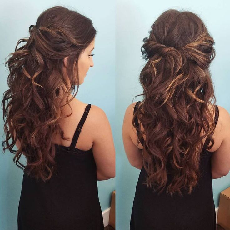 hair half up half down styles half up half by our stylist zenaida beautybyzenaida 8143 | cf3dd3389b91b97392a94140484fe826 prom hairdos half up half up half down hairstyles curled
