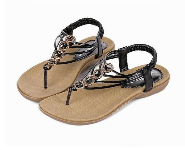 04a878e5c029 New Chic Style Female Flat Sandals in 2019