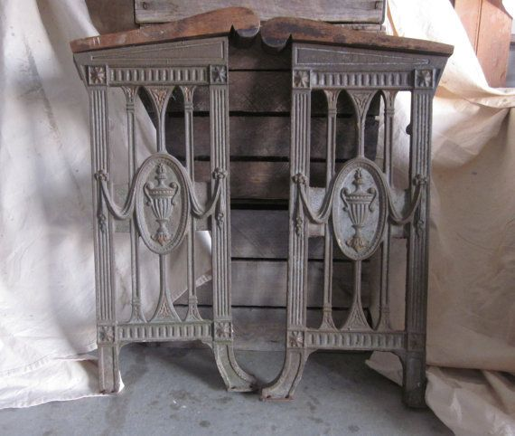 Antique Wrought Iron Salvage Furniture Cast by LittleRedPolkaDots