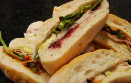 Ciabatta Finger Platter – a selection of meats, relishes and salad on fresh ciabatta bread fingers @ http://saffrononcreek.com.au/