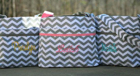 Chevron Diaper Bag Personalized Diaper Bag Baby Boy Diaper